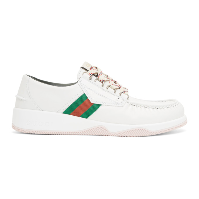 Gucci White Agrado Sneakers