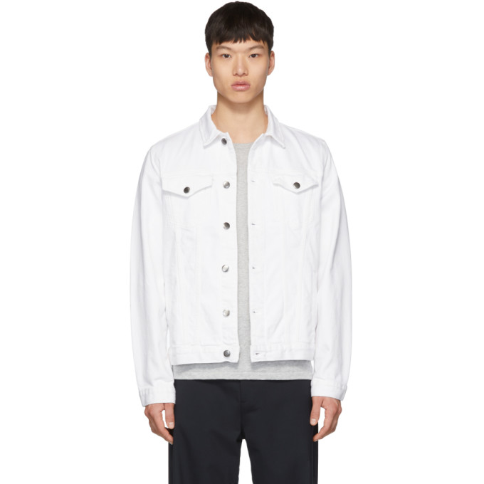 Frame ホワイト デニム LHomme ジャケット
