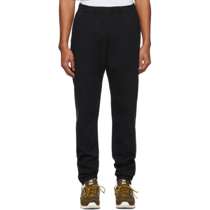 Nanamica Pantalon de survetement en jersey bouclette a glissieres noir