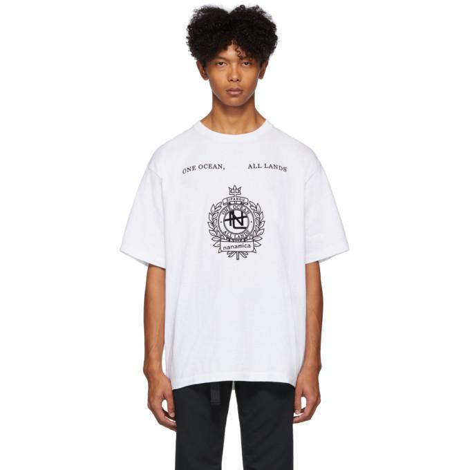 Nanamica T-shirt graphique blanc