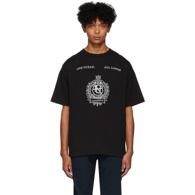 Nanamica T-shirt graphique noir