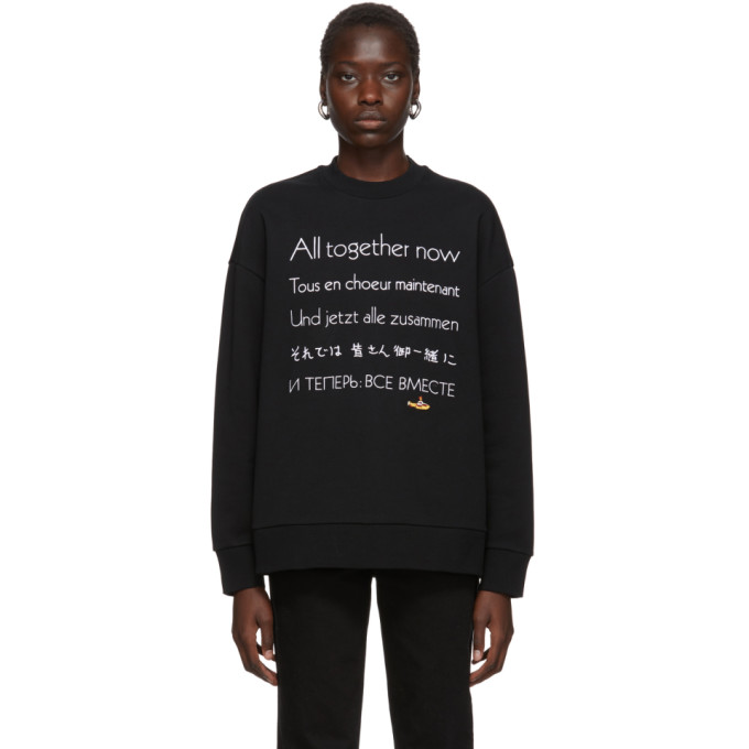 Stella McCartney Black The Beatles Edition All Together Now Sweatshirt