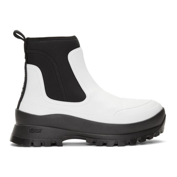Stella McCartney White Utility Boots