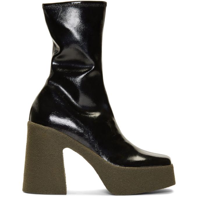 Stella McCartney Black Chunky Ankle Boots