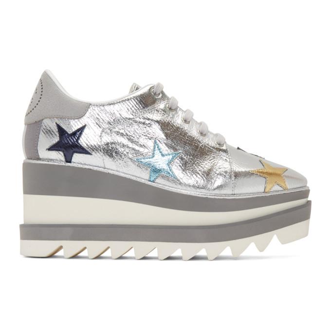 Stella McCartney Silver Elyse Stars Sneakers