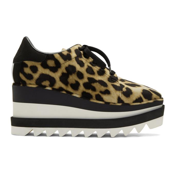 Stella McCartney Tan and Black Leopard Elyse Sneakers