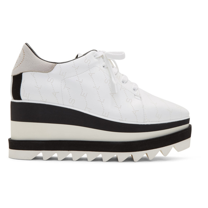 Stella McCartney White Monogram Elyse Sneakers