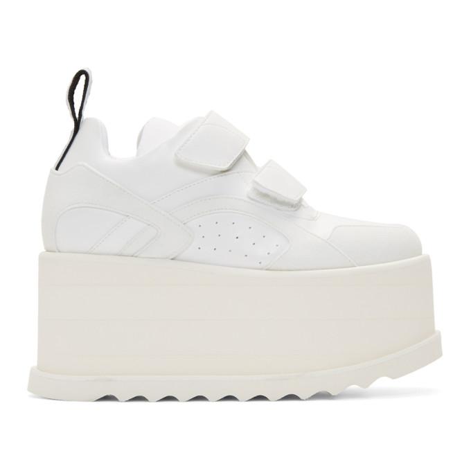 Stella McCartney White Eclypse Platform Sneakers