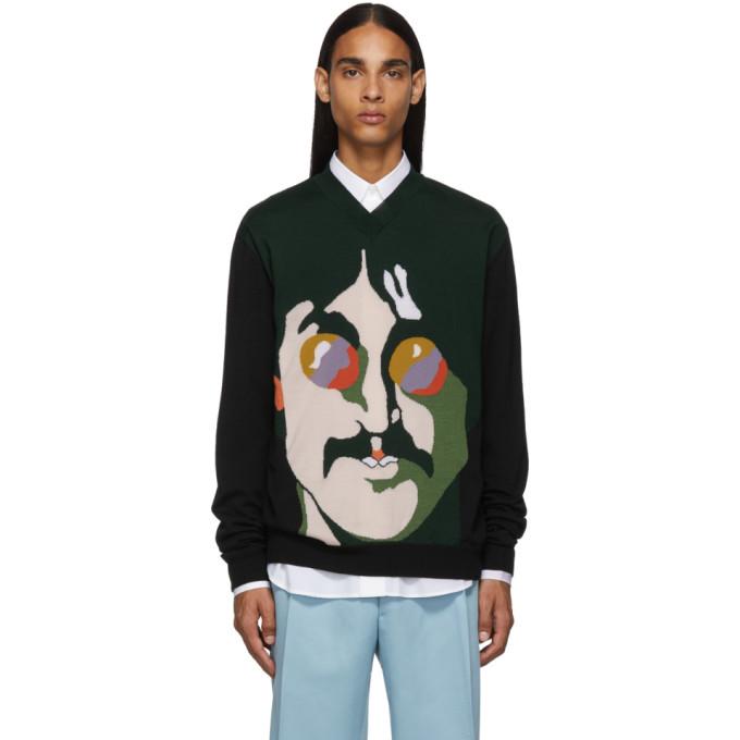 Stella McCartney Green and Black The Beatles Edition John Lennon Sweater