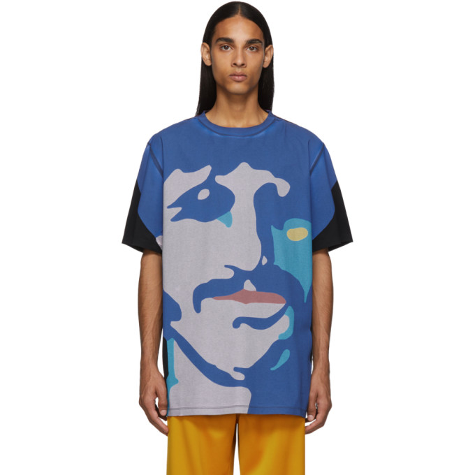 Stella McCartney Multicolor The Beatles Edition Oversized Ringo Starr and George Harrison T-Shirt