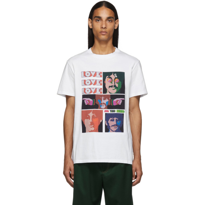 Stella McCartney White The Beatles Edition Oversized Printed T-Shirt