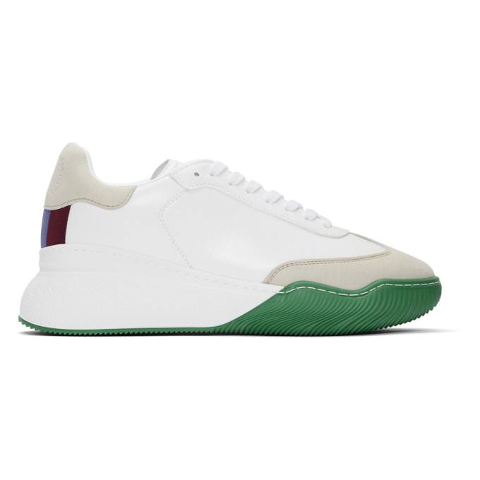 Stella McCartney White and Grey Loop Lace-Up Sneakers
