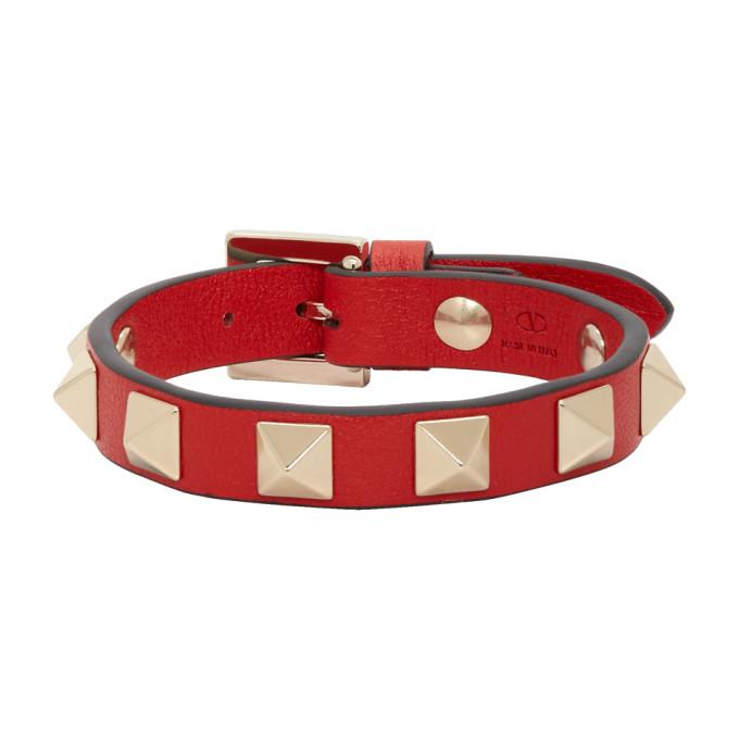 VALENTINO | Valentino Red Valentino Garavani Rockstud Bracelet | Goxip