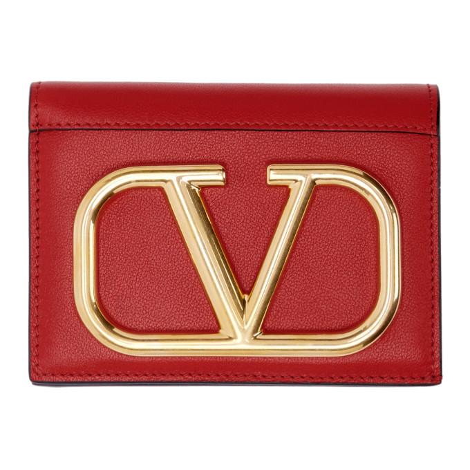 Valentino Valentino Garavani コレクション レッド VLogo フレンチ ウォレット
