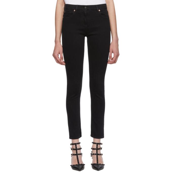 VALENTINO | Valentino Black VLTN Stretch Jeans | Goxip