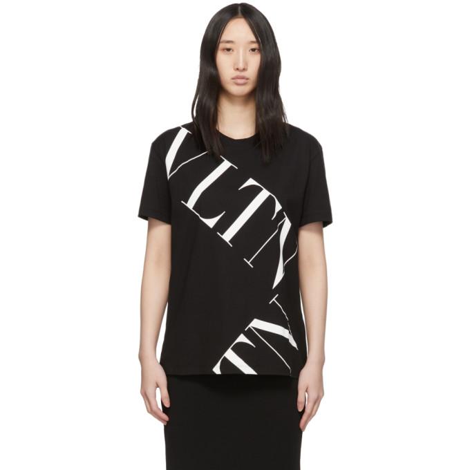 Valentino T-shirts VALENTINO BLACK VLTN GRID T-SHIRT