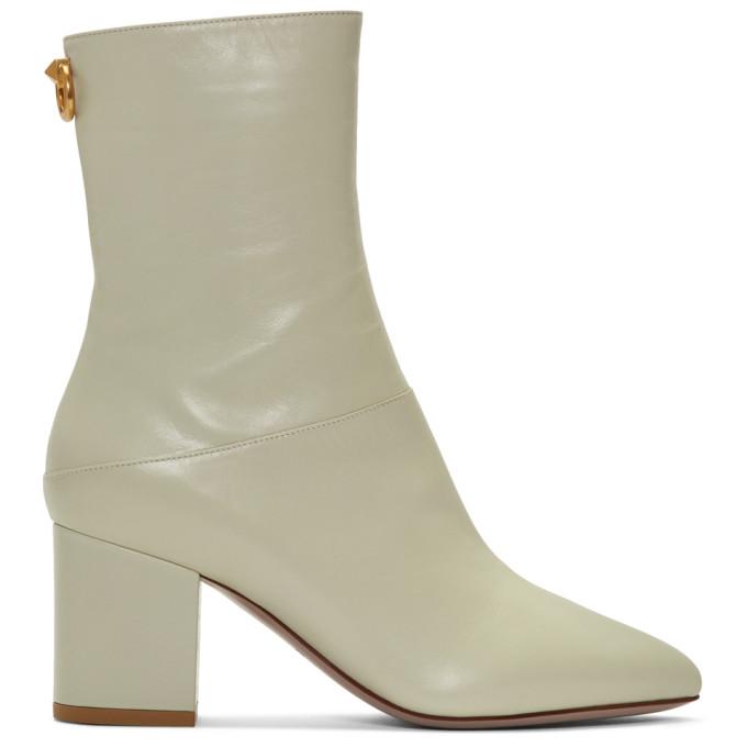 Valentino Off-White Valentino Garavani Ringstud Boots