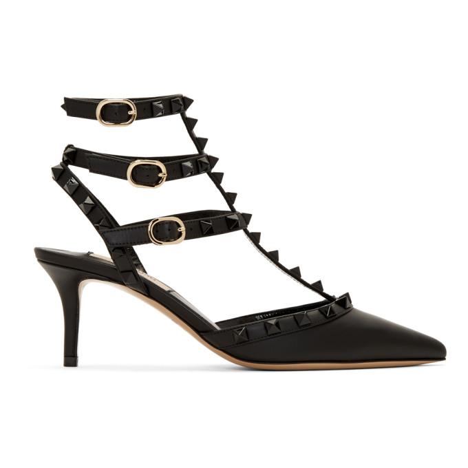 Valentino Black Valentino Garavani Rockstud Heels