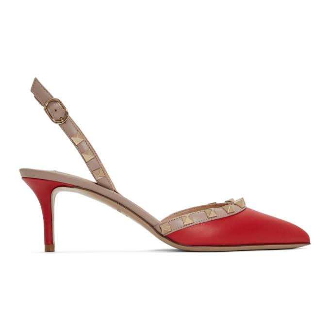 Valentino Red Valentino Garavani Rockstud Slingback Heels