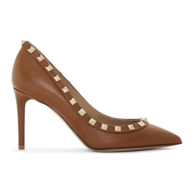 Valentino Brown Valentino Garavani Rockstud 85mm Heels