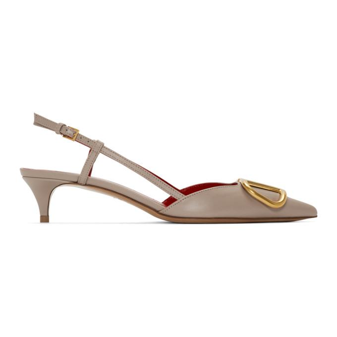 Valentino Pink Valentino Garavani VLogo Slingback Heels