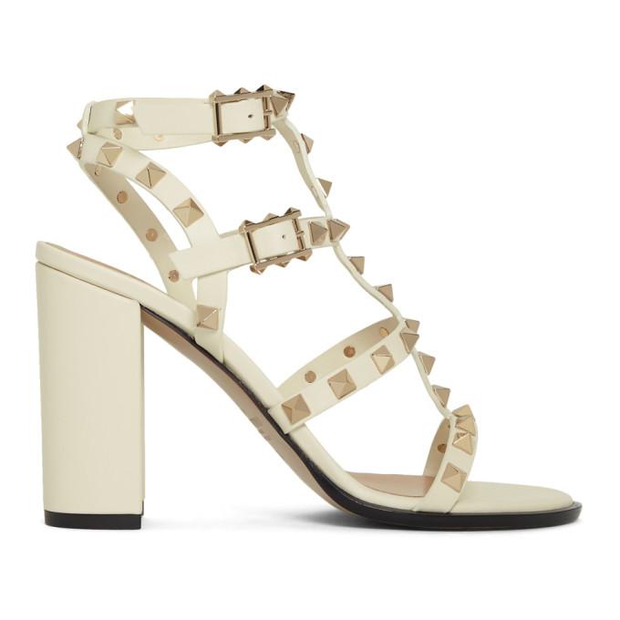 Valentino Off-White Valentino Garavani Rockstud Sandals