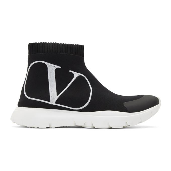Valentino Black Valentino Garavani VLogo Sock Sneakers