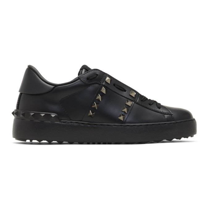Valentino Black Valentino Garavani Rockstud Untitled Sneakers