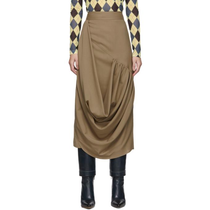 Jw Anderson Beige Drape Skirt In 132 Beige
