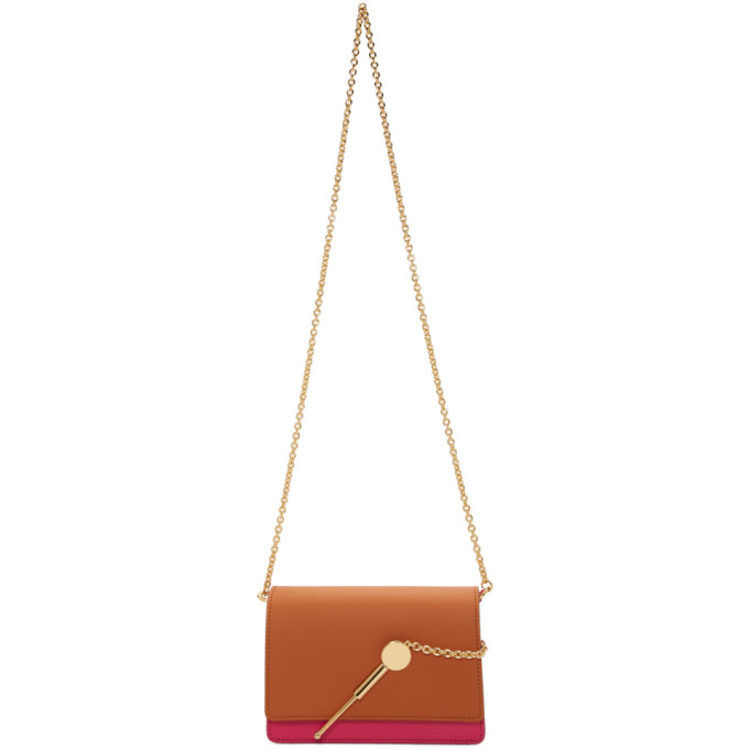 Sophie Hulme Orange and Pink Micro Cocktail Stirrer Bag