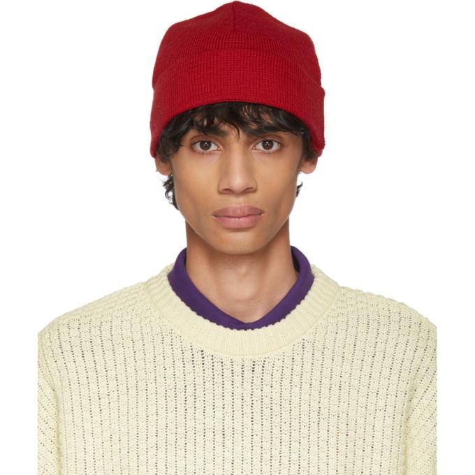 AMI Alexandre Mattiussi Bonnet en laine rouge