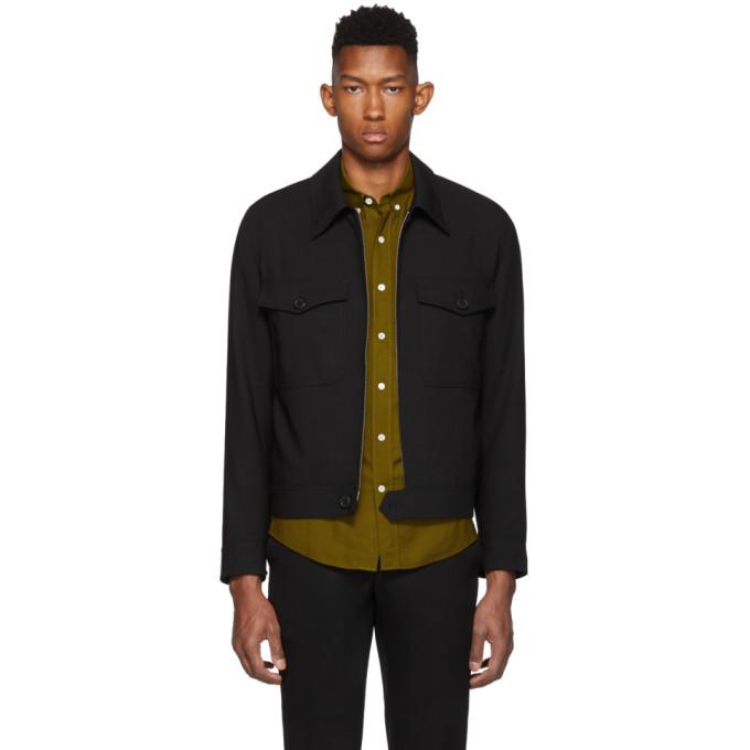 AMI Alexandre Mattiussi Black Patch Pocket Jacket
