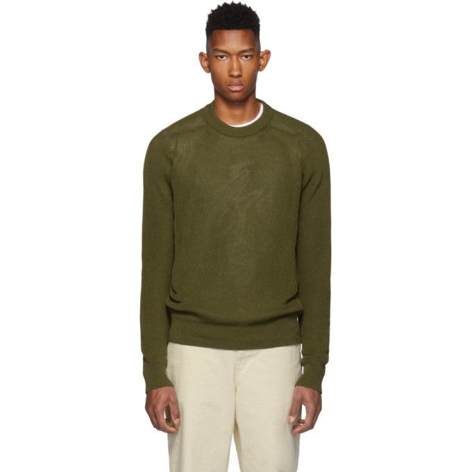 AMI Alexandre Mattiussi Green Fishermans Sweater