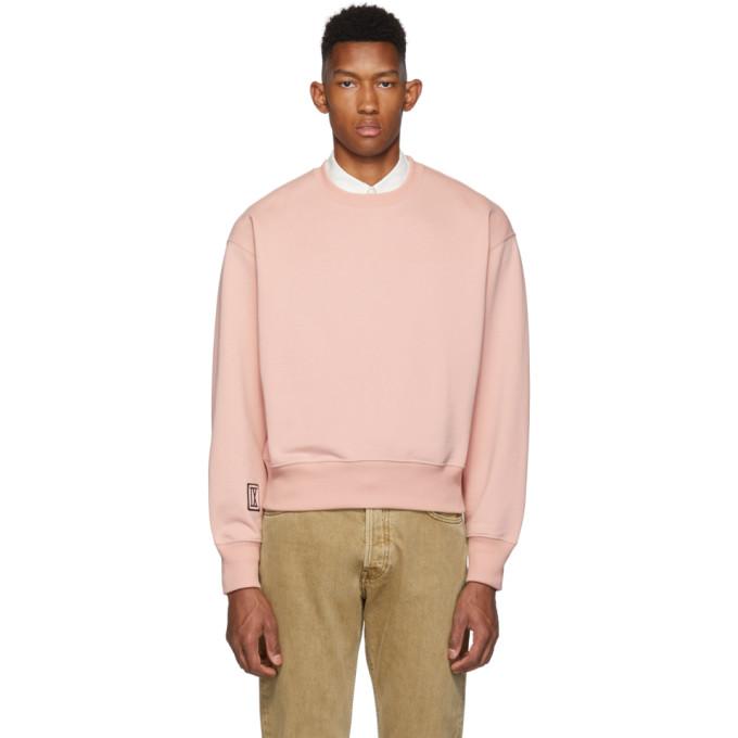 AMI Alexandre Mattiussi Pink 9 Patch Sweatshirt