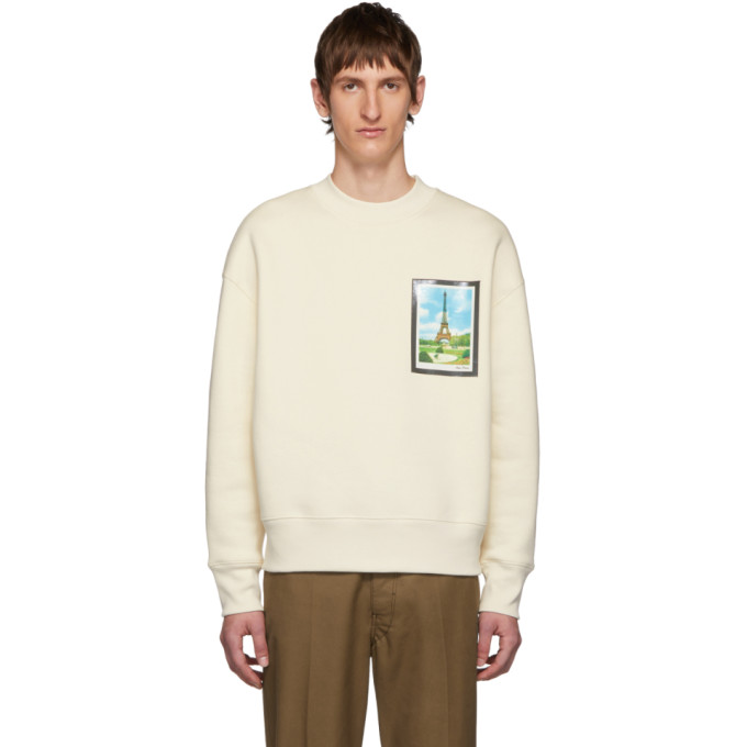 AMI Alexandre Mattiussi Off-White Postcard Print Sweatshirt