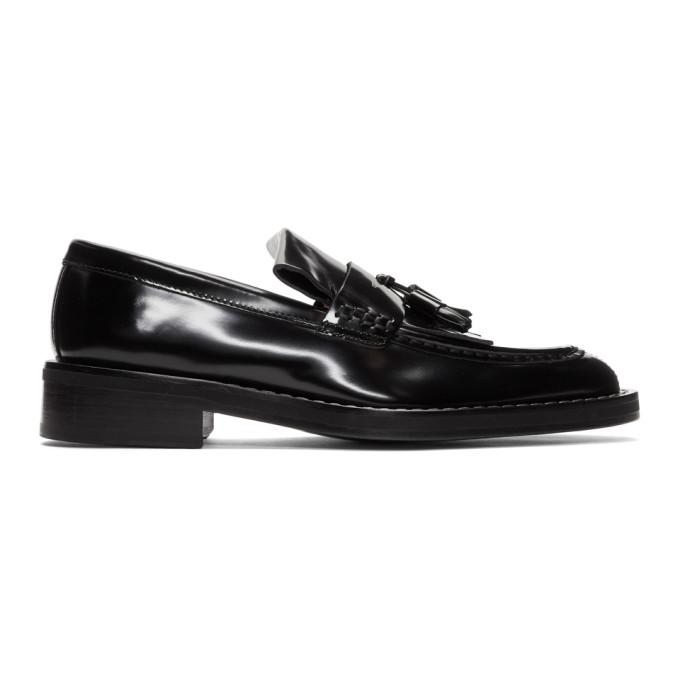 AMI Alexandre Mattiussi Black Spazzo Moccassin Loafers