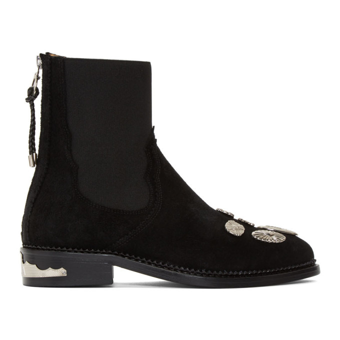 Toga Pulla Black Suede Hardware Boots