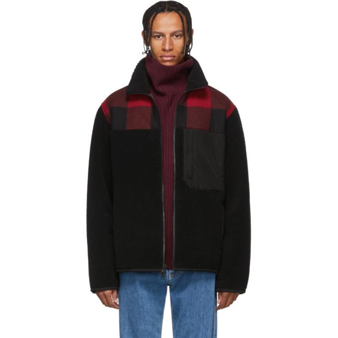 Woolrich Black Curly Fleece Buffalo Jacket