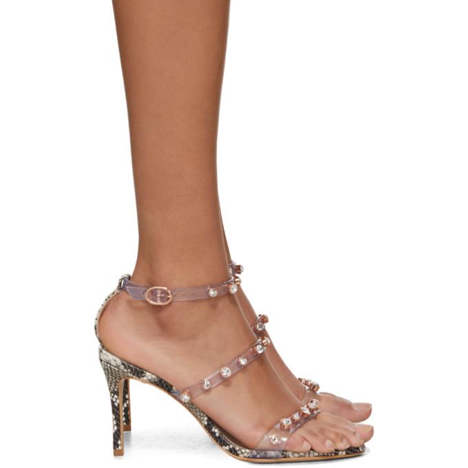 Sophia Webster Black and White Snake Gem Rosalind Mid Sandals