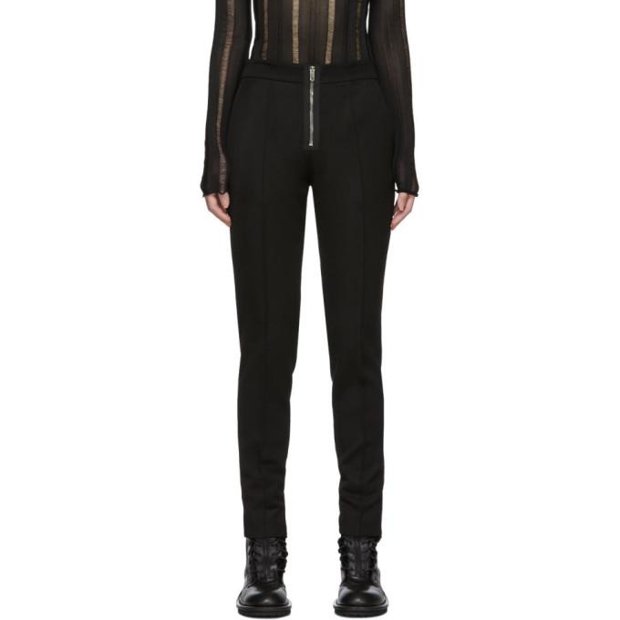 Yang Li Pantalon ajuste a glissiere visible noir