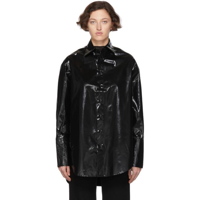Yang Li Black Oversized Samizdat Shirt In 99 Black