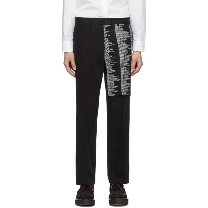 Yang Li Pantalon chinos noir Samizdat