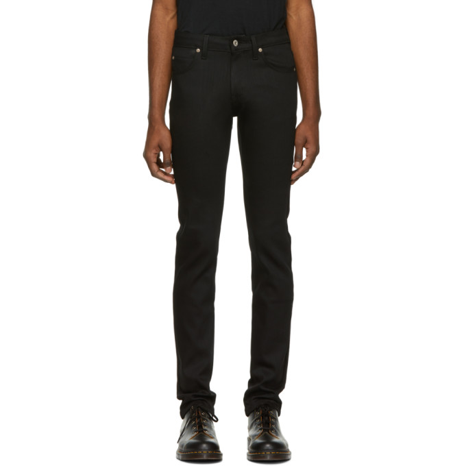Naked and Famous Denim Jean stretch noir Skinny Guy