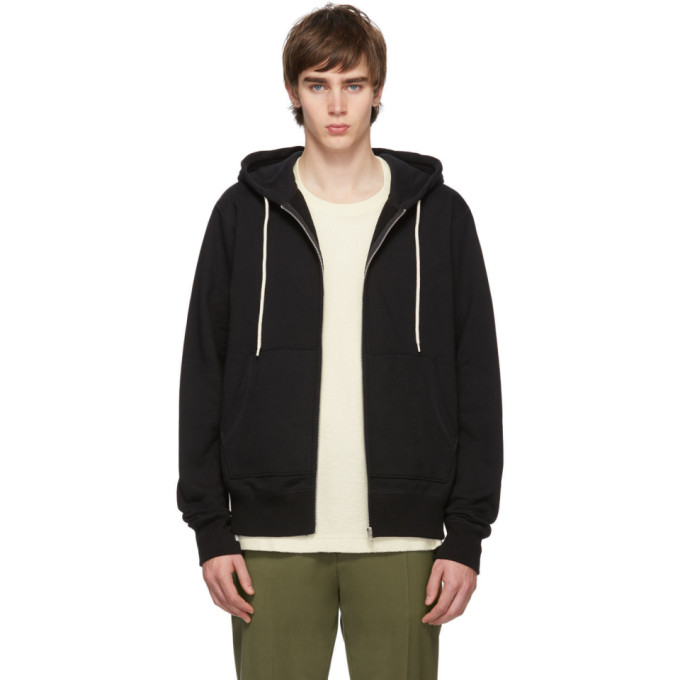 Naked And Famous Tops NAKED AND FAMOUS DENIM BLACK ZIP-UP HOODIE