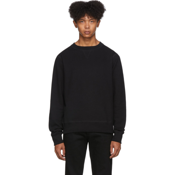Naked and Famous Denim Pull molletonne noir Heavyweight Terry