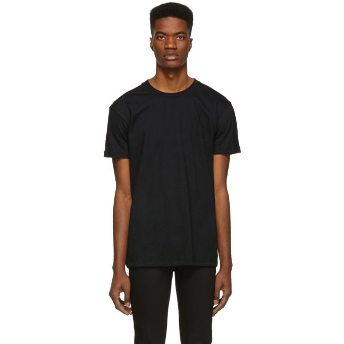 Naked and Famous Denim T-shirt en jersey circulaire noir