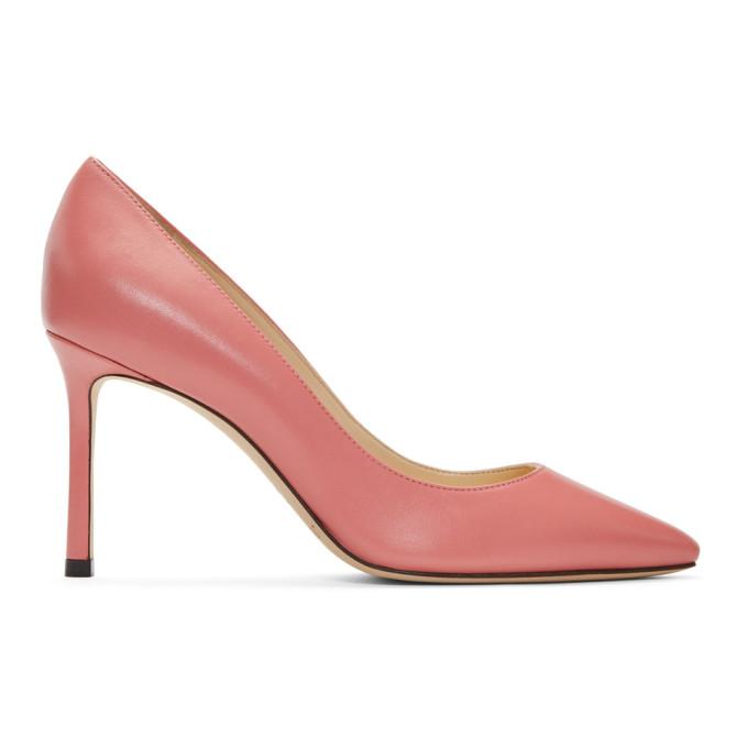 Jimmy Choo Pink Romy 85 Heels