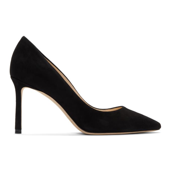 Buy Jimmy Choo Black Suede Romy 85 Heels online