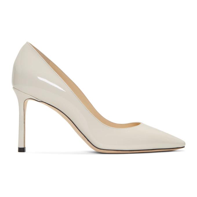 Jimmy Choo White Patent Romy 85 Heels