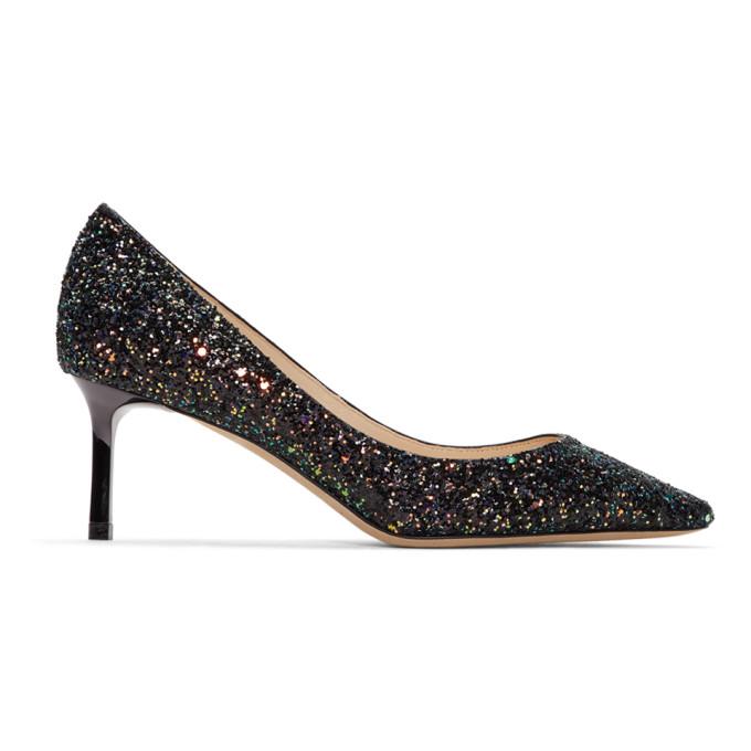 Jimmy Choo Multicolor Coarse Glitter Romy Heel